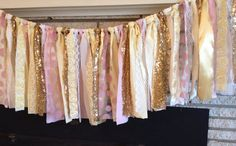 Your place to buy and sell all things handmade Mesh Garland, Fabric Garland, Garlands, Pink Gold Cake, Pink And Gold, First Birthday Parties, First Birthdays, Photo Booth Background, Ballerina Party