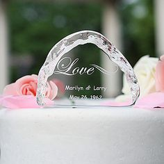 Cake Toppers Crystal Cake Topper - Love – USD $ 9.99