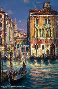 Venetian Sunset by Cao Yong ~ Venice series