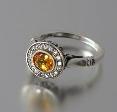 THE SECRET DELIGHT 14k gold Yellow Sapphire by WingedLion on Etsy