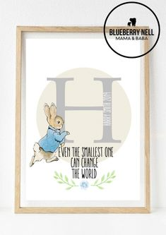 Our prints can be personalised any which way you like. Peter Rabbit, Nursery Prints, Ebay, Kids Prints