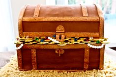 Incredible treasure chest cake
