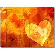 """Trademark Fine Art """"Love Message"""" Canvas Wall Art by Adam Kadmos"""
