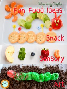 The Very Hungry Caterpillar Letters, Colors, & Food Toddler & Preschool Games | A Little Pinch of Perfect