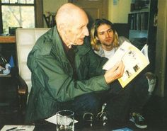 William Burroughs and Kurt Cobain, at Burrough's Lawrence, Kansas, home. - another color photo of W.B and K.C