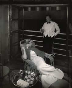 Edward Steichen captures cruise liner life on 'Lurline' 1934 ~ Vogue 365 #Australian Vogue