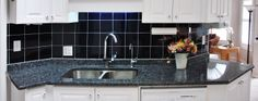 We carry Blue Pearl Granite Countertops for Kitchen and Bathroom. We deliver and install your countertops anywhere in South-Western Ontario. Blue Granite Countertops, Kitchen Cabinets And Countertops, Granite Colors, Kitchen Flooring, Kitchen Island, Kitchen Backsplash, Blue Pearl Granite, Vinyl Tile Flooring
