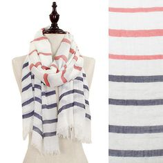 Nautical Stripe Scarf from Sand and Coral. SO #preppy