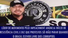 Líder de movimento anuncia início de resistência civil e diz que protest...