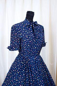 1950s Dress // Umbrella Print Full Skirt Dress