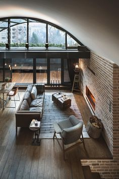 Architecture, homes inspirations and more. Interior Exterior, Interior Architecture, Style At Home, Loft Design, House Design, Loft Stil, Style Loft, Casas Containers, Attic Apartment