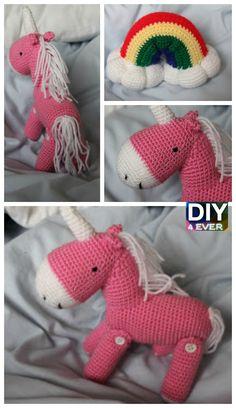10 Cutest Crochet Unicorn Free Patterns#freepattern