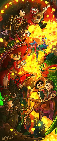 Adinda-Coco And The Book Of Life Fanfiction Pixar Movies, Disney Films, Disney And Dreamworks, Cartoon Crossovers, Disney Crossovers, Arte Disney, Disney Art, Book Of Life, The Book
