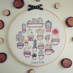 🌵🌵Cactus... #cactus #kaktus #green #plante #yeşilik #KasnakPano #İşleme #Embroidery #pano #tableau #flowers #broderie #passion #colorfull 🌵🌵