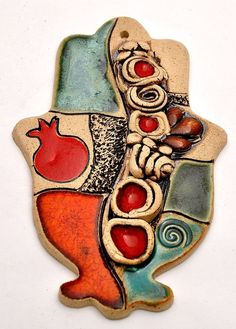 Hamsa Hand With Pomegranate For Energy Luck & by springnahal