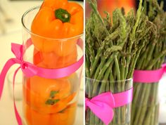 Fruit and vegetable centerpieces for weddings