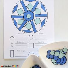Build a Snowflake: Winter Shape Math Activity and Free Template