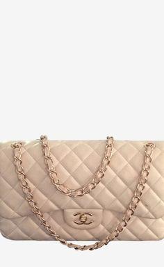 Chanel Pale Pink With Rose Gold Hardware Handbag//