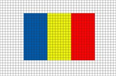 Flag of Romania Pixel Art