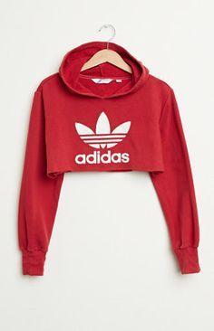 crop top adidas rouge