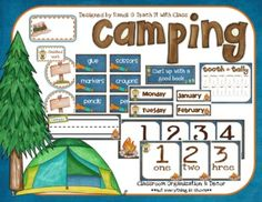 I realize that each classroom is unique and what works for one classroom/teacher may not work for another.  I have created this camping theme set t...