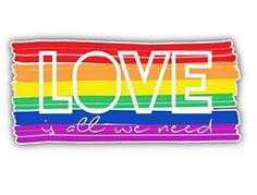LGBT Pride Flag Car Window Bumper Decal Vinyl Sticker