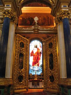 The royal doors of St. Isaac's Cathedral