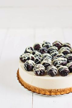 No-bake blackberry cheesecake. #tasty