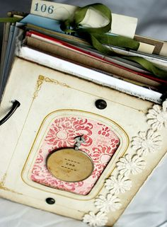 vintage photo mat journal (sold)