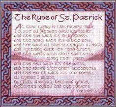 The Rune of St Patrick cross stitch