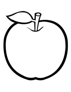 Golden Apple Fruit Coloring Pges - Fruit Coloring Pages : KidsDrawing – Free Coloring Pages Online Apple Coloring Pages, Leaf Coloring Page, Coloring Pages For Kids, Free Coloring, Pictures Of Leaves, Apple Images, Apple Picture, Shadow Drawing, Golden Apple