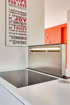 Moderne keuken dampkap onderbouw Neff - Geel