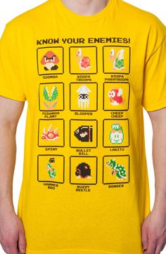 Mario Enemies T-Shirt: Video Games Nintendo, Super Mario Bros T-shirt