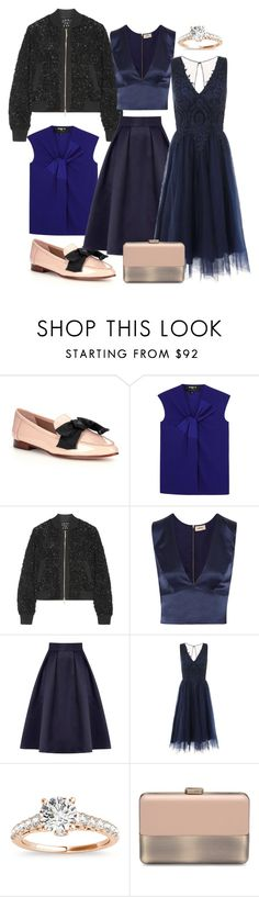 darkblue by dodo85 on Polyvore featuring Chi Chi, L'Agence, Paule Ka, Elie Saab, Coast, Kate Spade and Allurez
