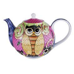 4 Cup Porcelain Teapot Curly Owl - Porcelain Teapot  Size: 200mm x 130mm x 140mm - Gift Boxed - eBay<3<3