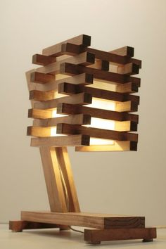 Wood Table-Desk-Bedside Lamp III