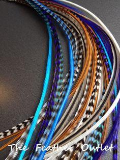 Menge 20 dünn Sattel Haar Feder Großartige Mischung aus erdigen Farben mit Akzenten in pink und Türkis, in Solid und Grizzly gestreifte Muster. Alle Federn sind 100 % real und können gewaschen werden, trocknete, und wie Ihr natürliches Haar Stil. Diese Federn Messen 8 bis 11 Zoll