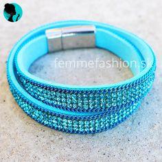 Náramok Chic Blue #bracelet #bracelets #accessories #jewelry #bijouterie #bizuteria #naramok #dnesnosim http://femmefashion.sk/naramky/2505-naramok-chic-blue.html