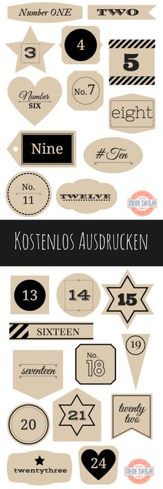 Adventskalender Zahlen zum Ausdrucken Free advent calendar numbers to print. Whether for your own children, the man or a friend – these figures in handlettering style look good on every advent calendar. Christmas Countdown, Diy Christmas Gifts, Kids Christmas, Christmas Costumes, Christmas Decorations, Halloween Costumes, Xmas, Christmas Recipes, Christmas Cards