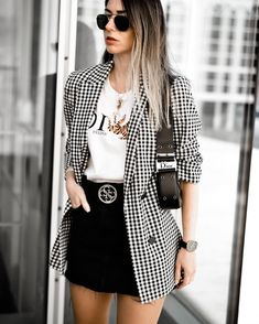 winter blazer feminino england office lady casual pink plaid blazer women blazer mujer 2019 women blazers and jackets Blazer Outfits Casual, Classy Outfits, Trendy Outfits, Summer Outfits, Dress Outfits, Casual Wear, Winter Outfits, Casual Attire For Women, Hijab Outfit