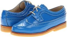 ShopStyle.com: Elephantito - Patent Brogues (Toddler/Little Kid/Big Kid) (Electric Blue) - Footwear $69.00