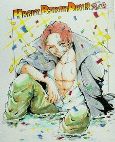Red Hair Shanks, Es Der Clown, Dad N Me, 0ne Piece, Call My Dad, Big Daddy, Pirate Party, Me Me Me Anime, Fairy Tail