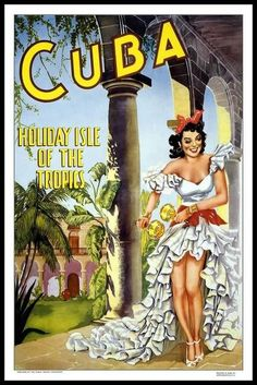 I love this vintage Cuba travel poster. Great for the adventurer, poster available in a wide variety of sizes and papers. Vintage travel poster for Cuba. Travel Ads, Cuba Travel, Travel And Tourism, Travel Guide, Travel Photos, Girl Travel, Old Poster, Retro Poster, Poster Poster