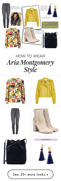 """""""Aria Montgomery"""" by spencer-hastings-5 on Polyvore featuring FAUSTO PUGLISI, Paige Denim, BaubleBar, Gianvito Rossi and Mansur Gavriel Luci Hale, Aria Montgomery Style, Pll Outfits, Spencer Hastings, Paige Denim, Pretty Little Liars, Everyday Outfits, Dress To Impress, Cute"""