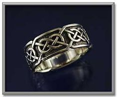 """""""Síorghrá"""" Celtic Ring - """"Síorghrá"""" can be translated from the Irish Gaelic as """"Eternal Love"""". At approximately 3/8"""" wide, this ring is beautifully suited for both male and female hands. Made of sterling silver."""
