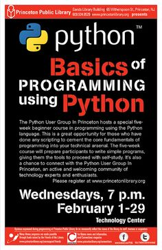 Princeton Public Library (NJ) has team up with the local Python Users Group in an effort to get free Intro to Coding classes to our community -- and the response has been overwhelming. The class filled within 48 hrs of being announced and had a lengthy waiting list. In exchange for the Pythonistas giving us free instruction time we host their monthly meetings in our large community room free of charge. They getting meeting space, we get great teachers. Win-Win!