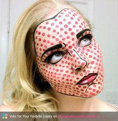Comic Book Character Makeup Design.  @Nina Morrell  What about this for harvest???