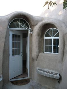 Entrance into cob house