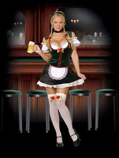 Girl German tits beer