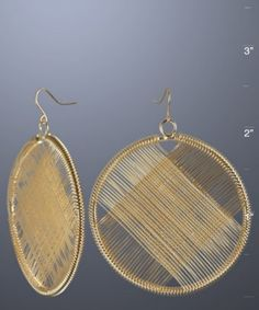 Kenneth Jay Lane - gold circle wire wrap earring